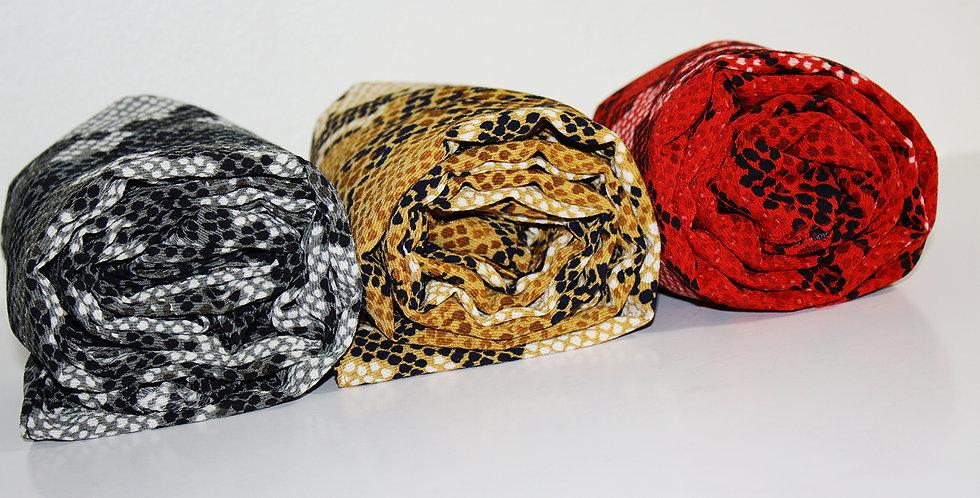 Snake Print Hijab Set