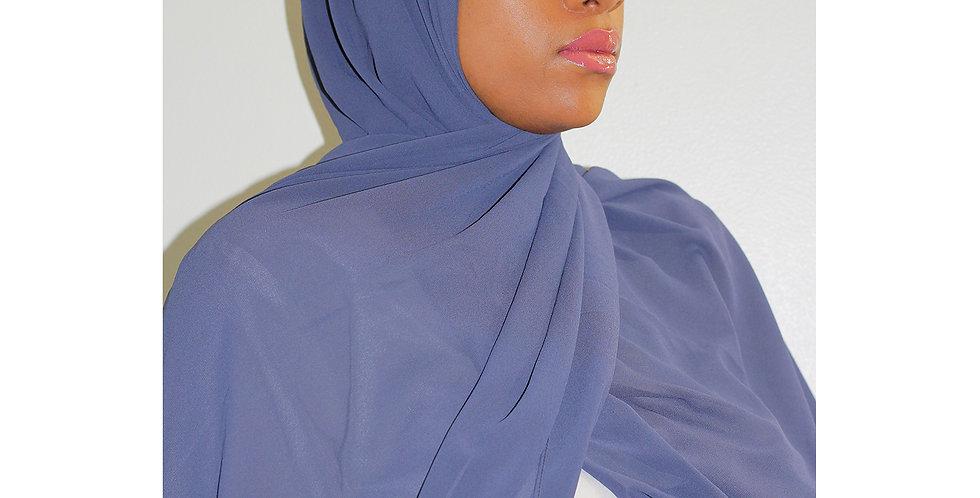 Dusty Blue  Premium Luxury Chiffon Hijab