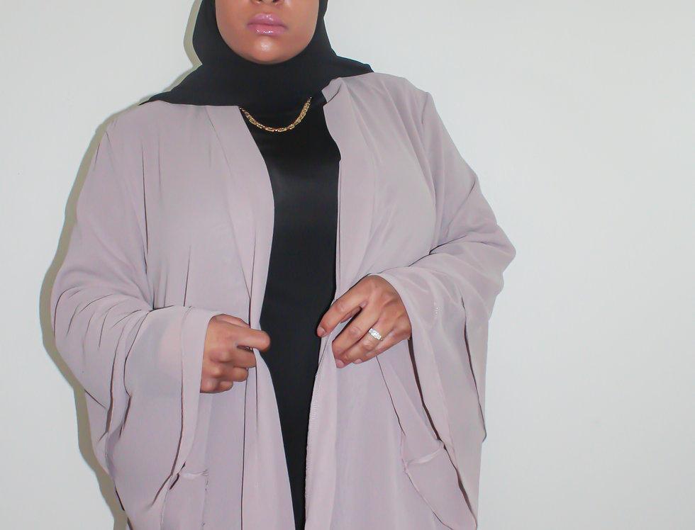 Sepia Layered Chiffon Abaya