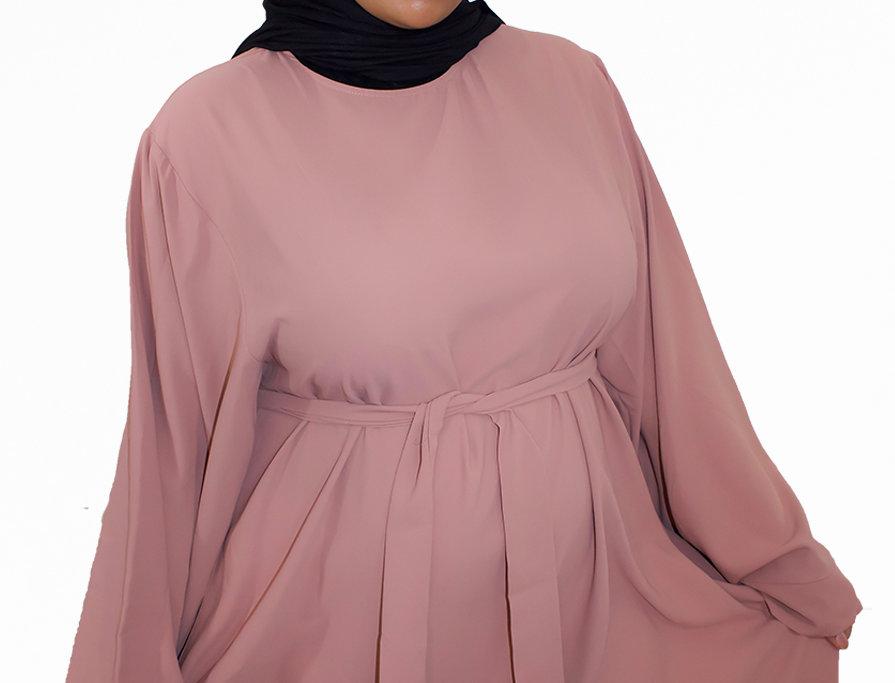 Creamy Pink Dubai Batwing Kaftan Style Abaya