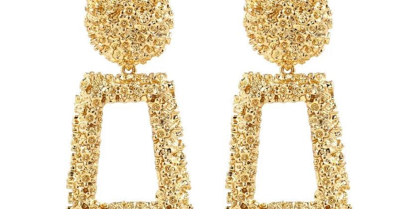 Nisa Gold Door Knocker Earrings