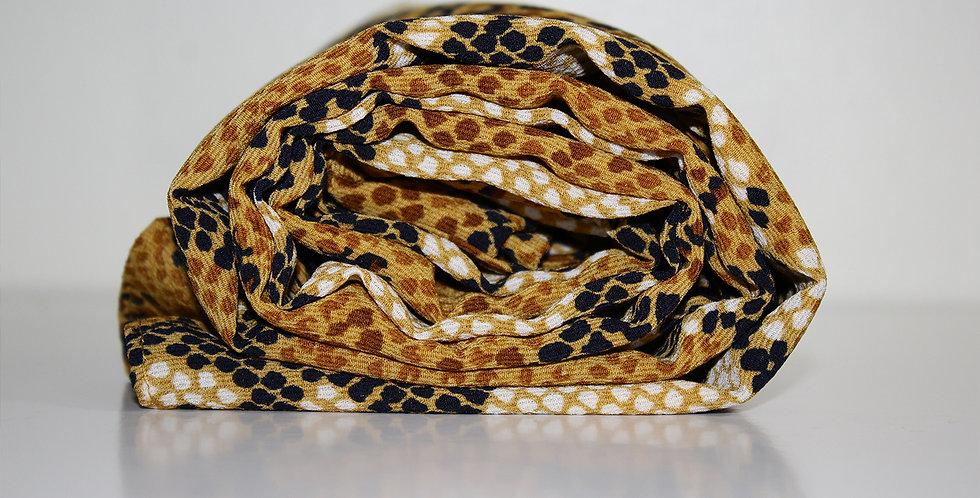 Python Yellow Snake Print Chiffon Hijab