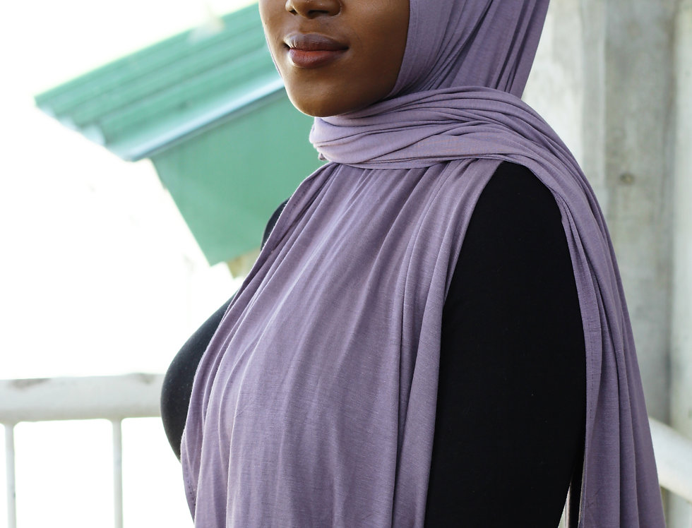 Purple Ashes Light Weight Jersey Hijab