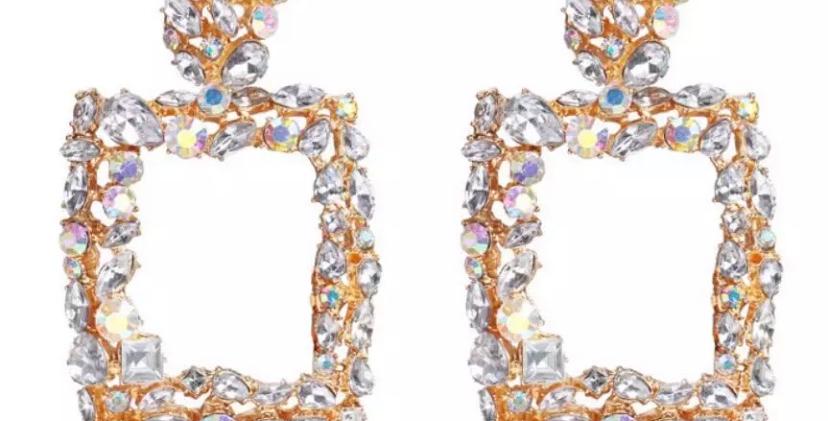 ICY crystal Door Knocker Earrings