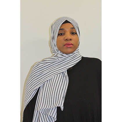 Zebra PRINTS Chiffon Hijab