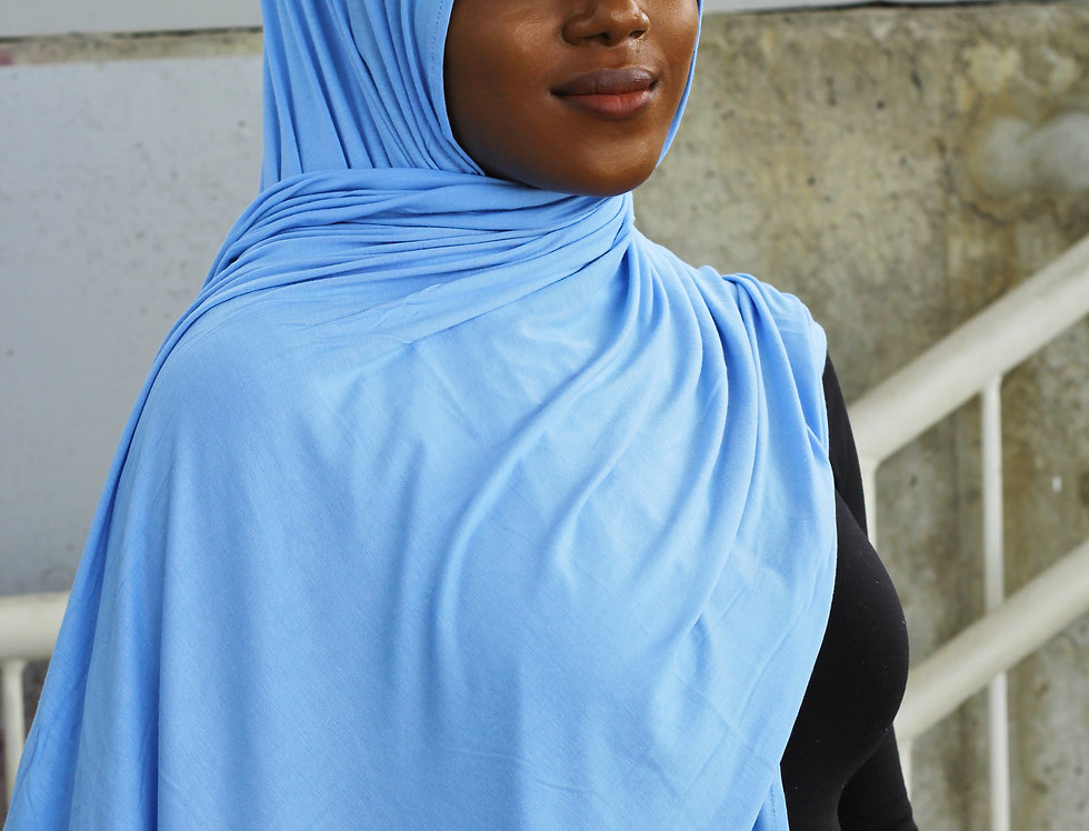 Baby Blue Thick Jersey Hijab