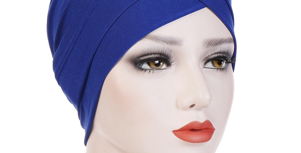 Blue turban/under cap