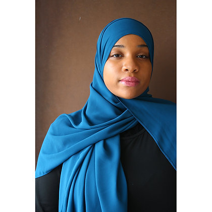 Cobalt Premium Luxury Chiffon Hijab
