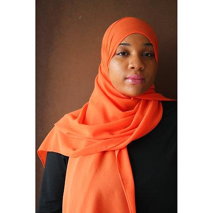 Papaya Premium Luxury Chiffon Hijab