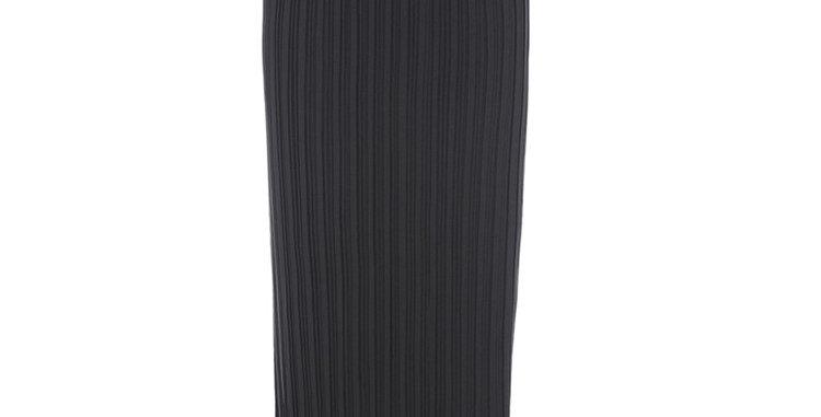 Sable Black Evening Pleats Skirt