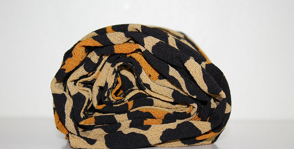 Brown Cheetah PRINTS chiffon Hijab