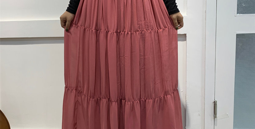 Dusty Pink chiffon skirt