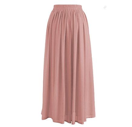 Pink Chiffon Elegant Skirt