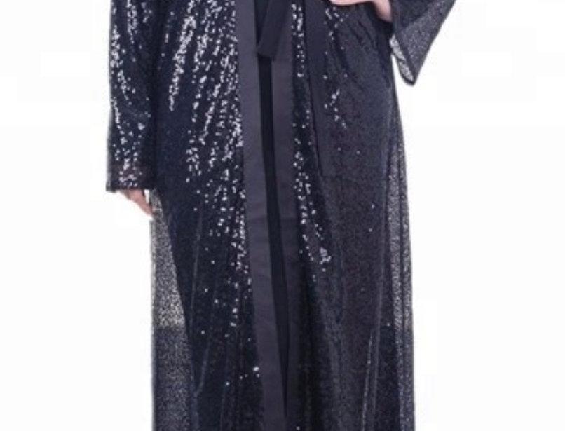 Black Luxurious Sequin Abaya