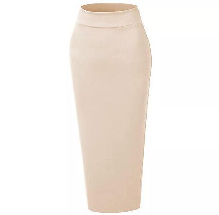 Apricot Body Con Skirt