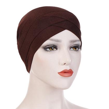 Brown turban/under cap