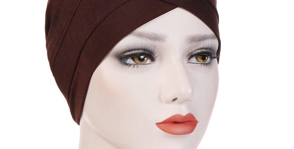 Brown turban/under cap