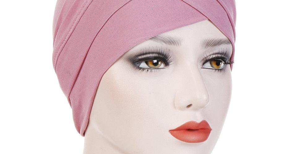 Pink turban/under cap