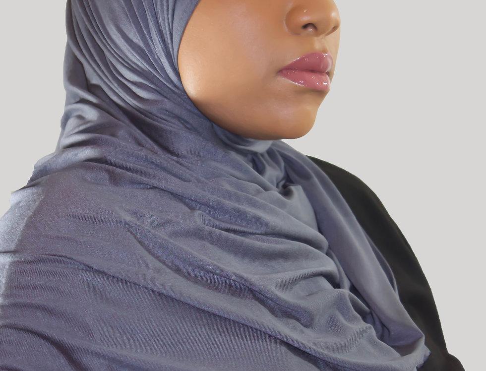 Graphite Hoodie Light Weight Jersey Hijab
