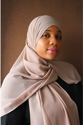 Cream Premium Luxury Chiffon Hijab