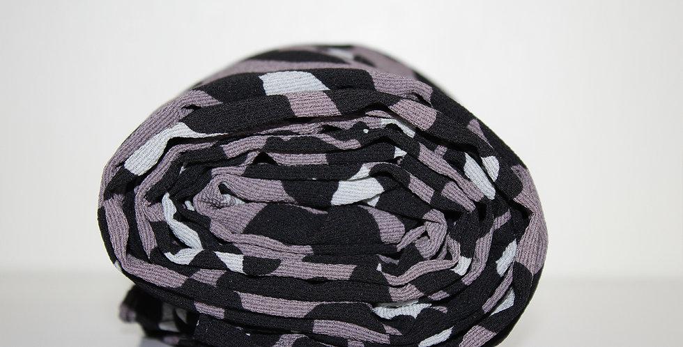 Gray Cheetah Print Chiffon Hijab