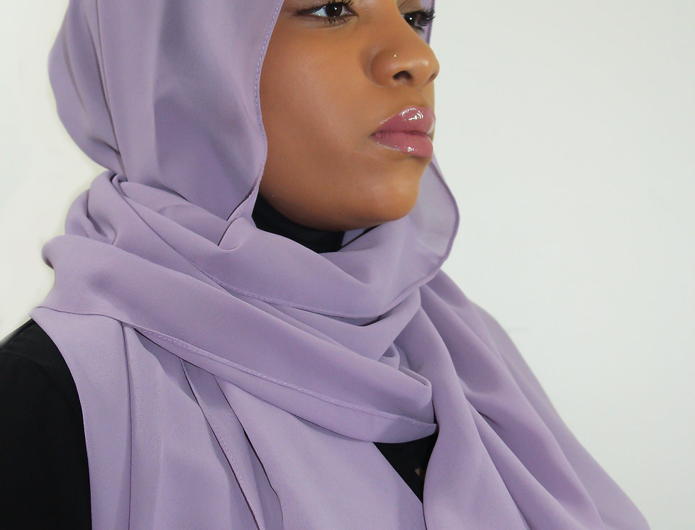 Purple Dust Premium Luxury Chiffon Hijab