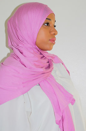 Pink Light Weight Jersey Hijab