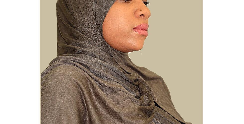 Army Green Light Weight Jersey Hijab