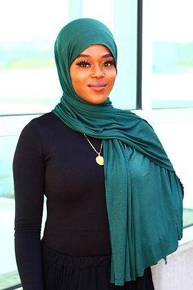 Hunter Green Weight Jersey Hijab