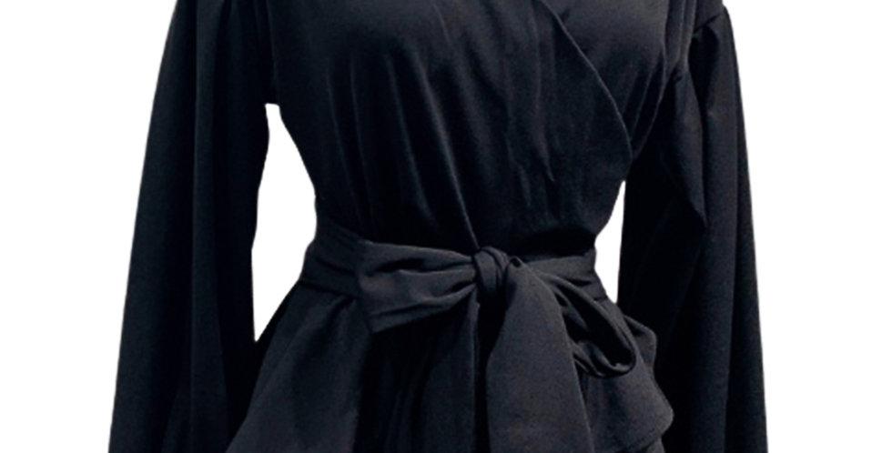 Onyx wrap shirt
