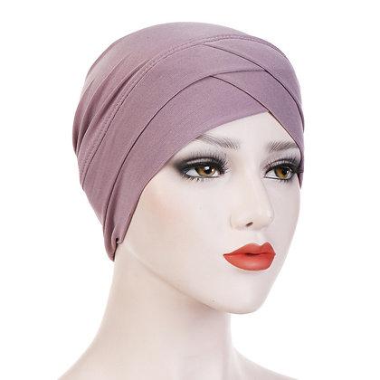 Light Muave Turban/ hijab under cap