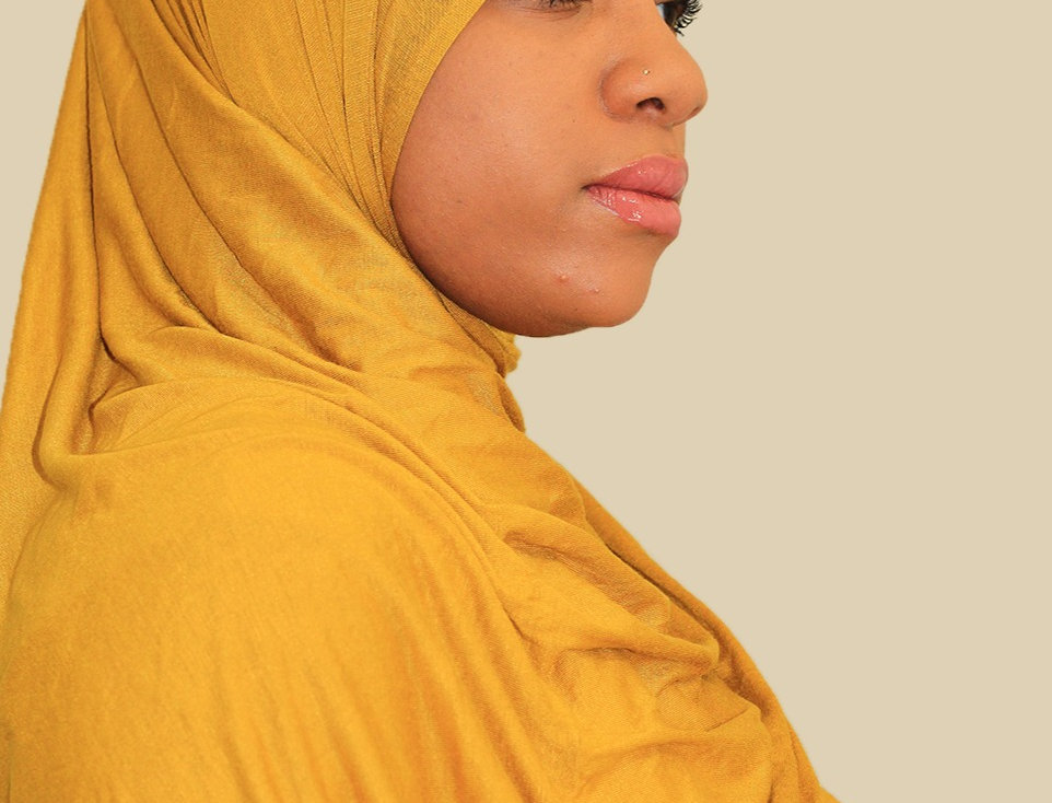 Mustard Light weight jersey hijab