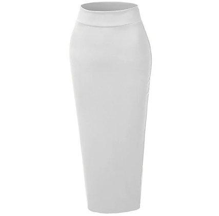 White Body Con Skirt
