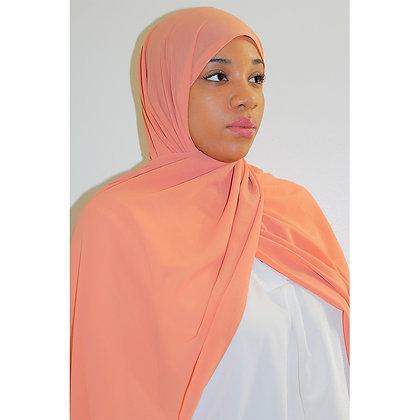 Peachy Pink Premium Luxury Chiffon Hijab