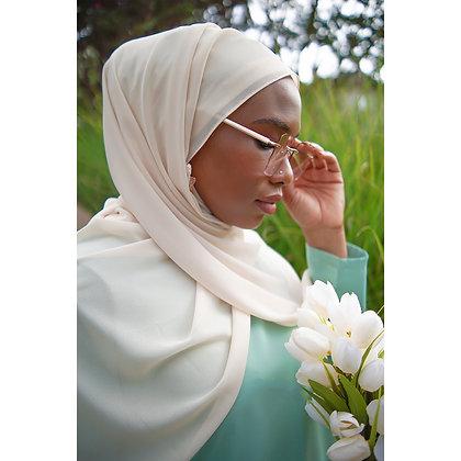 Light Nude Premium Luxury Chiffon Hijab
