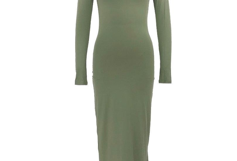 Sage Essentials Turtle Neck Dress