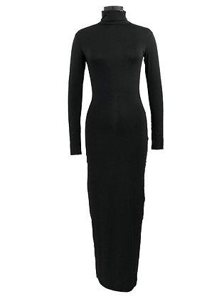 Black Essentials Turtle Neck Dress preorder