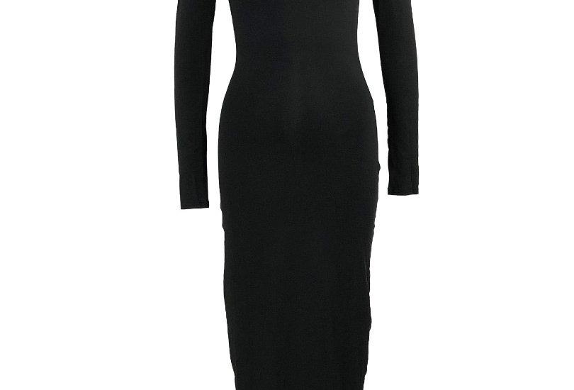 Black Essentials Turtle Neck Dress