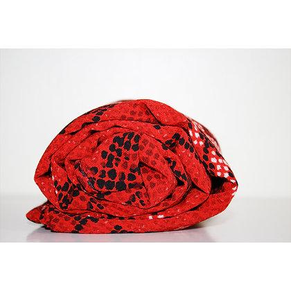Red Snake Print Chiffon Hijab