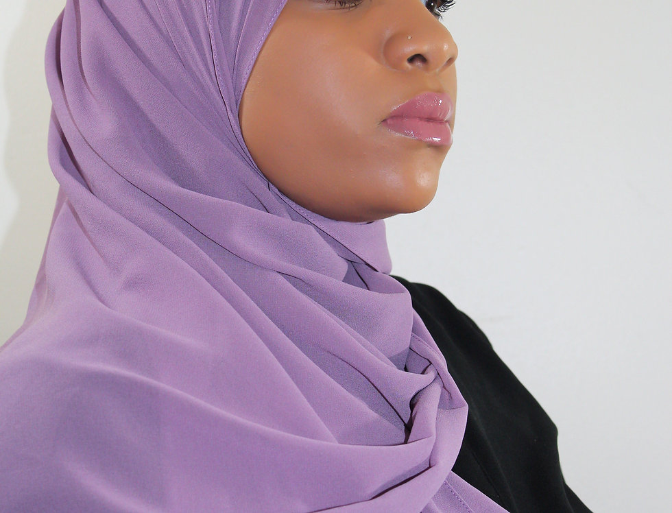 Dusty Plum Premium Luxury Chiffon Hijab