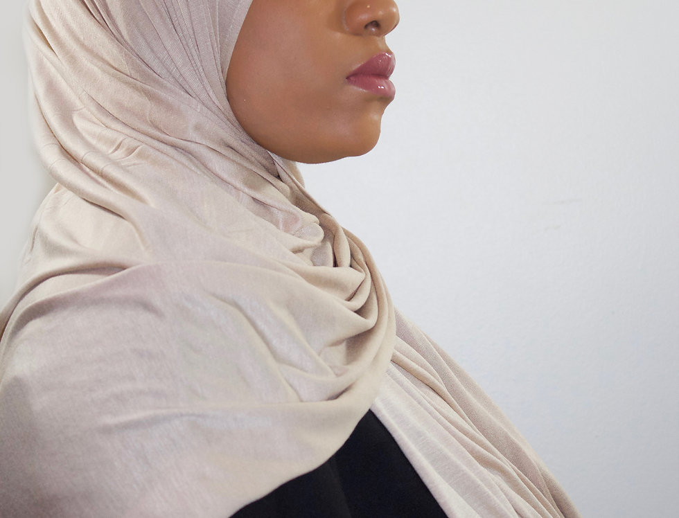 Dusty Nude Light Weight Jersey Hijab