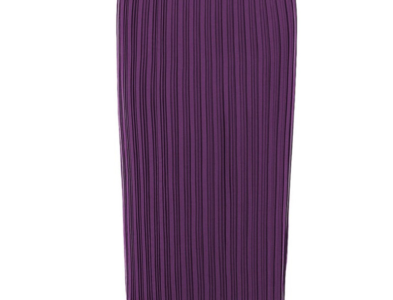 Purple evening pleats skirt
