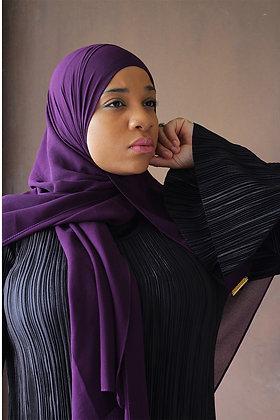 Egg Plant Premium Luxury Chiffon Hijab