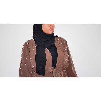 Brown Pearl Abaya