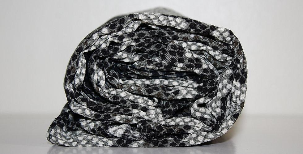 Green|Gray Snake Print Chiffon Hijab