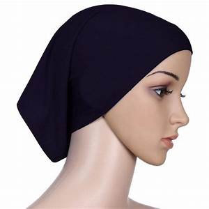 Black Single Hijab Cap
