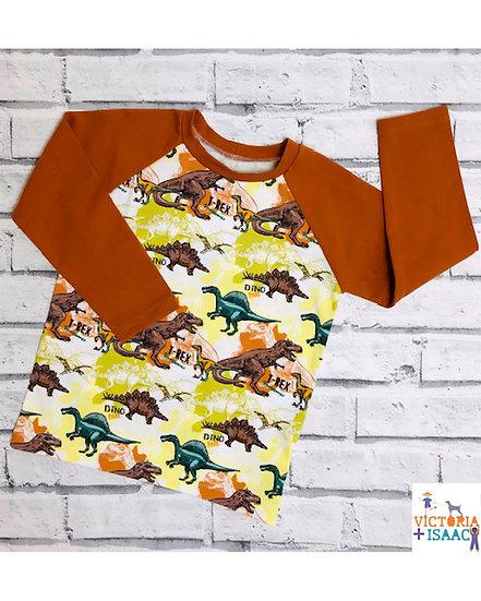 Dino Safari Baseball-Style T-Shirt