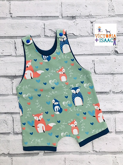 Foxes Short Dungarees; 3-6m