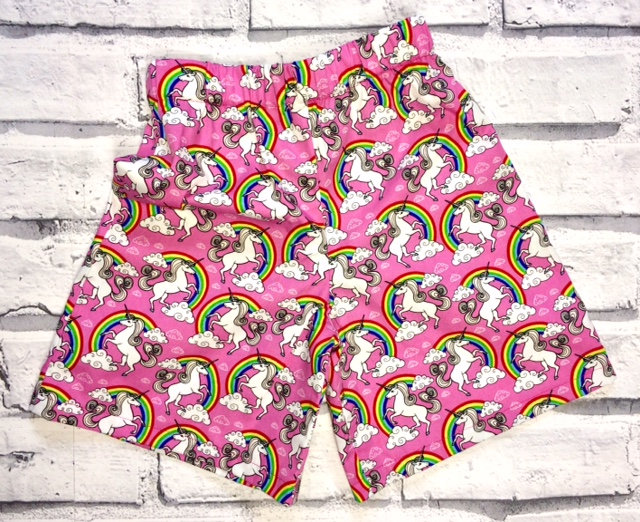 Pink Unicorns Shorts, 2-3y
