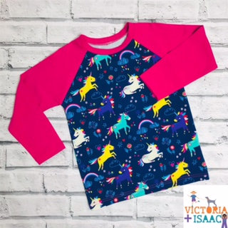 Unicorn Doodles Baseball-Style T-Shirt